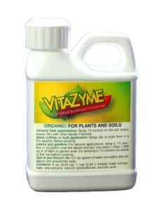 Vitazyme all-natural biostimulant product container.